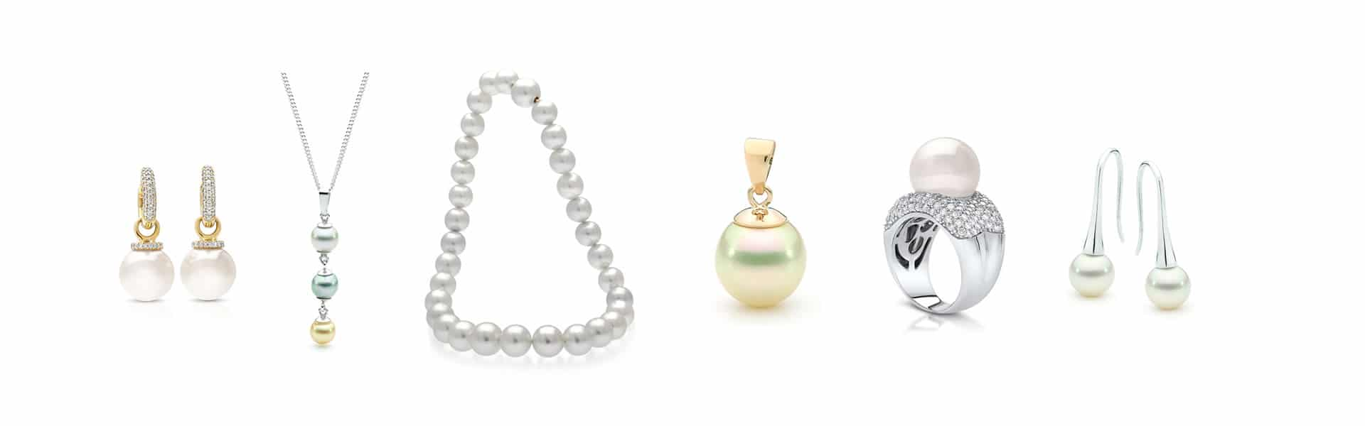 pearl jewellery earrings necklace pendant ring