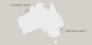 Pearls of Australia map