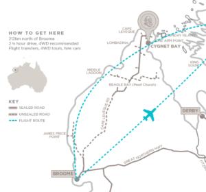 Cygnet Bay Map Broome