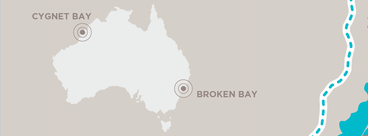 Map of Pearl Farms Broken Bay and Cygnet Bay