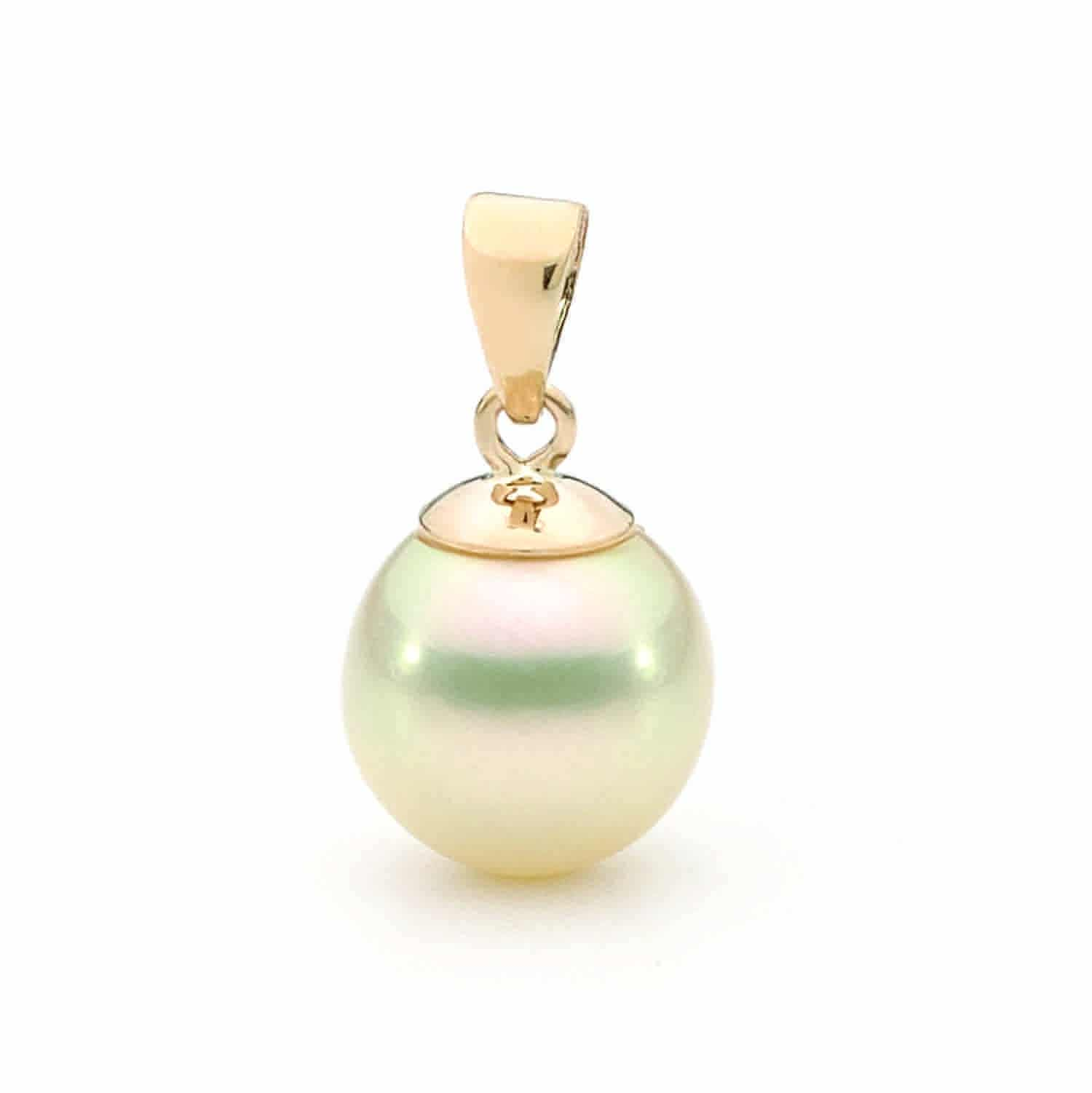 pearl pendant gold