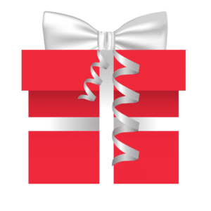 Present box with bow