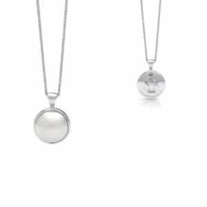South Sea Mabe pearl pendant sterling silver
