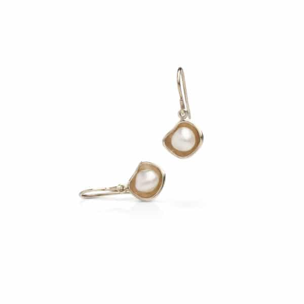 South Sea Keshi Pearl Hook Earrings
