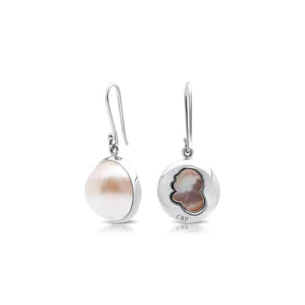 South Sea Mabe Pearl Silver earring