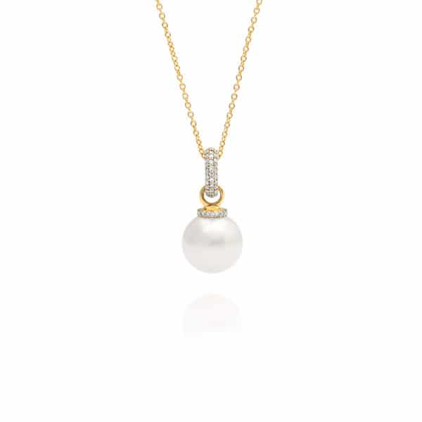 South Sea Pearl Diamond Enhancer Pendant