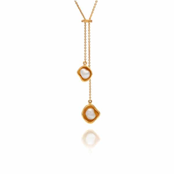 South Sea Keshi Pearl Kimberley Lily Lariat