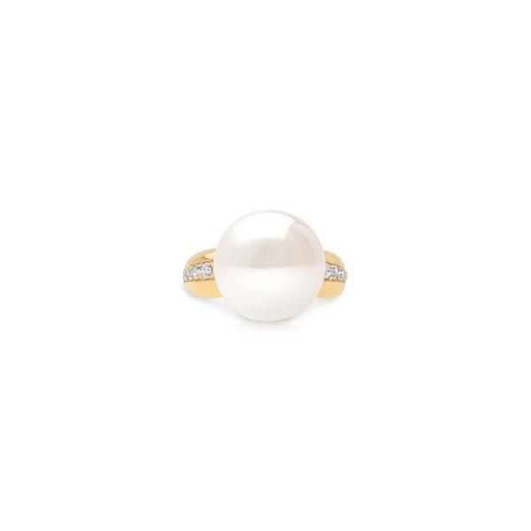 South Sea Yellow Gold Diamond Ring