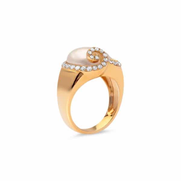 18ct Yellow Gold South Sea Keshi Pearl Ring