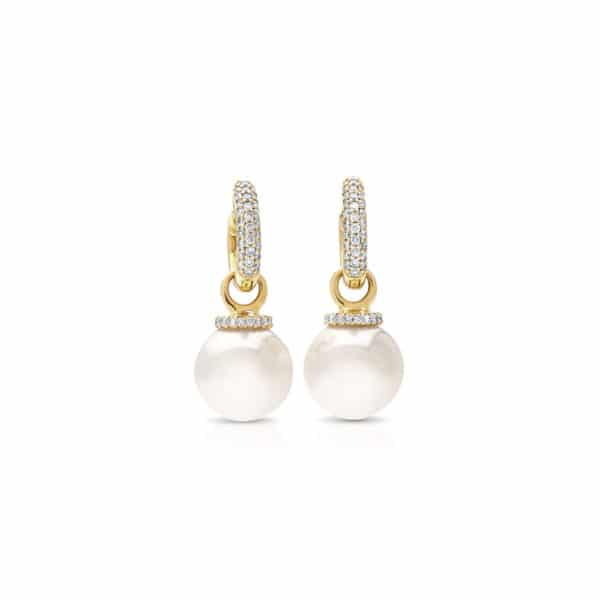 South Sea Pearl Huggie earrings