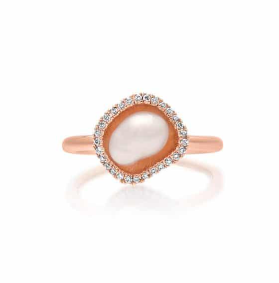 south sea keshi pearl diamond ring