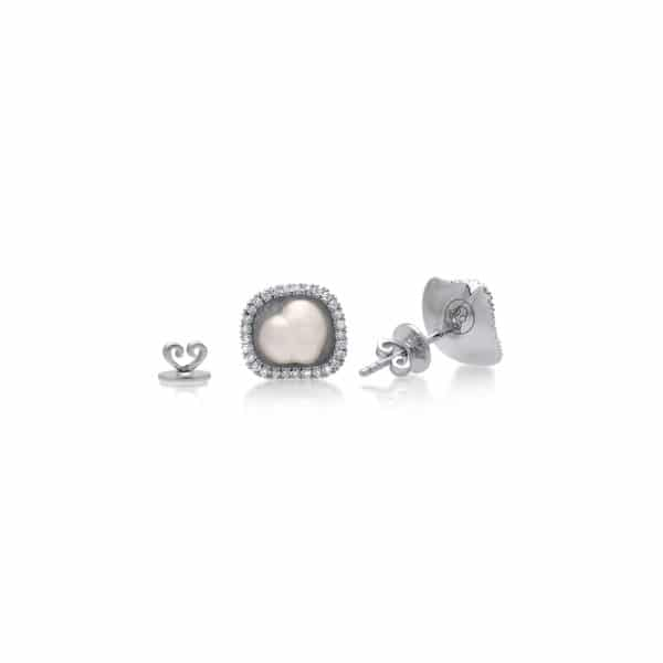 Australian South Sea Keshi and Diamond WG Studs